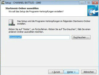 Install screen 2 - Desastersoft's Channel Battles