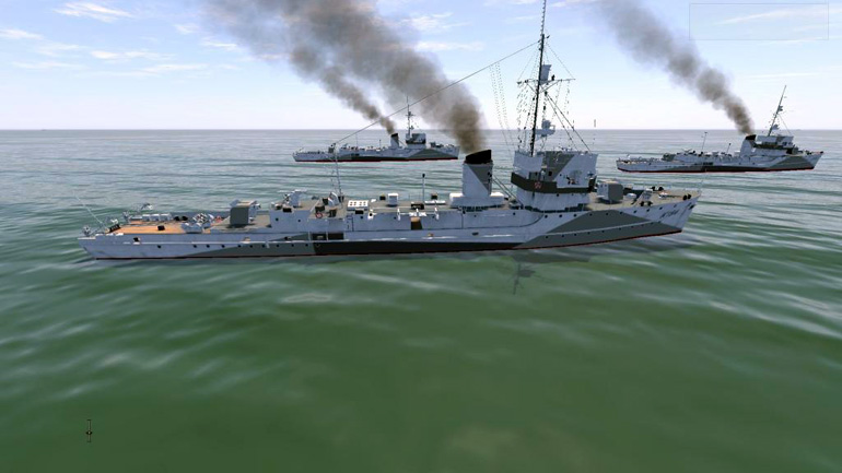 The new Flowers class British corvette.