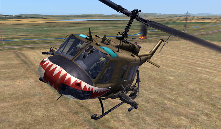 DCS: UH-1H Huey - Authentic battle damage!
