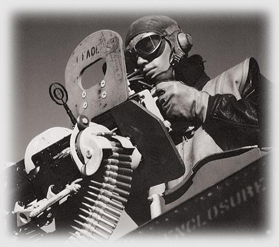 A SBD Dauntless gunner, 1943.