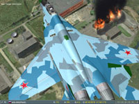 I overfly the burning cooling towers as the two Shilka guns engage me...