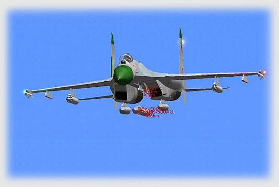 Su-27S bomb drop