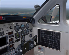A look out the 3D cockpit...