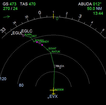 how to set nav radio to an airport in 737