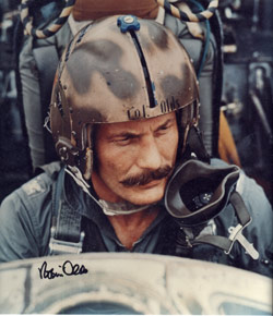 Robin Olds in Cockpit. Photo courtesy of Ben Gimbert.
