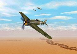 Macchi MC 200 over the desert