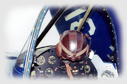 The cockpit of the Connecticut-built  F4U-4 of Tri-State Warbird Collection, Wahpeton, ND.