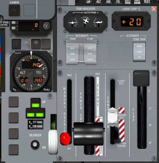 Overhead Aircraft Engine Control Lever : Flight pilatus pc and misty fjords page simhq