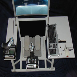 Sim Cockpit System central stick configuration.