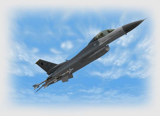 Climbing F-16