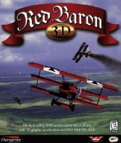 Red Baron 3D box cover