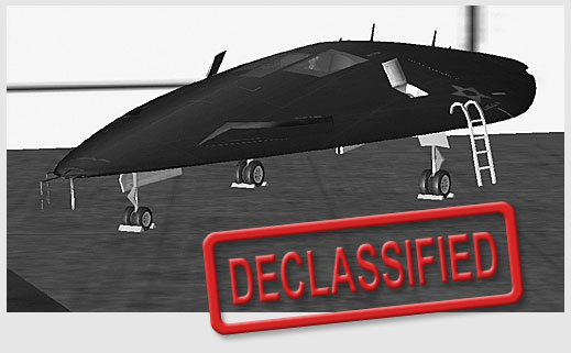 DECLASSIFIED: The F-136B in the hangar.