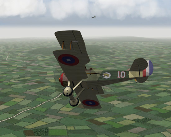A Spad turns into the fight.