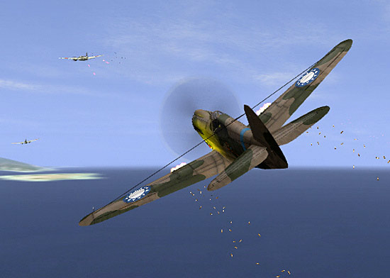P-40 on the Attack.