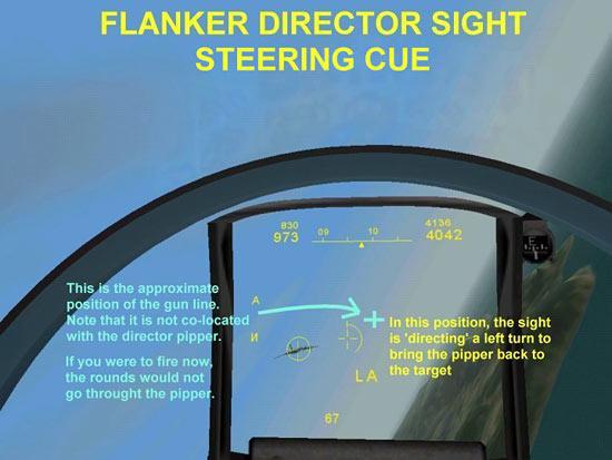 Director Sight Steering Cues - Flanker 2