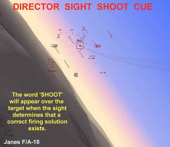 Director Sight Shoot Cue - F/A-18