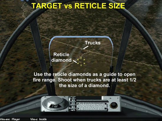 Fig 23 - Reticle Diamond As A Range Reference