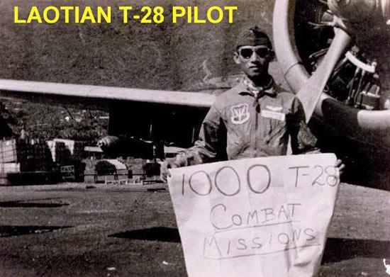 Fig 35 - Laotian T-28 Pilot