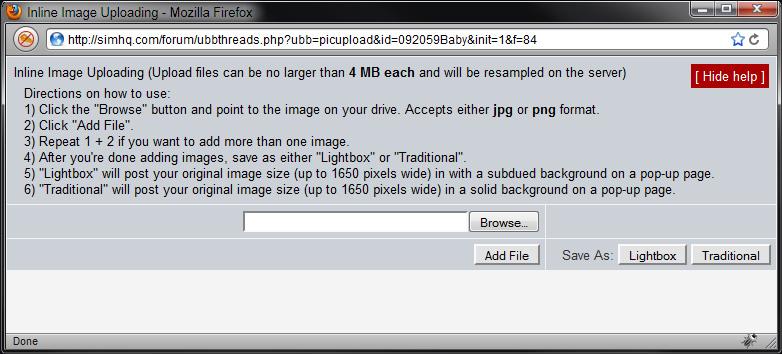Inline Image Uploading