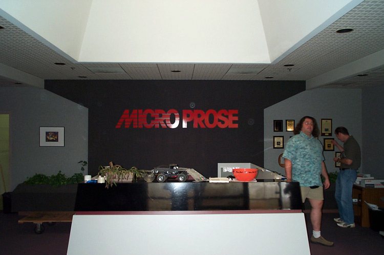 Reception area. Left is Gary Spinrad, at right is Murray Taylor.