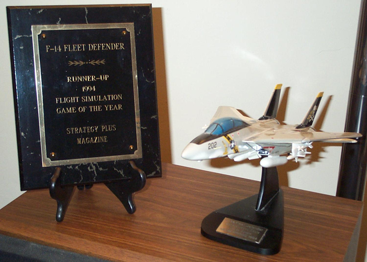 One of the awards Fleet Defender won and my plane from the ship party.