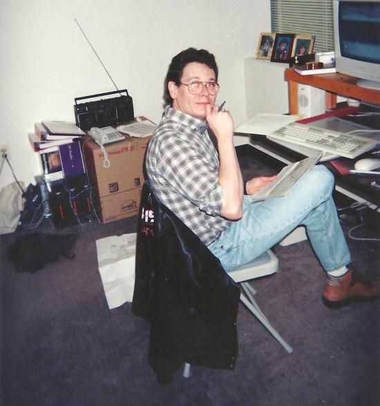 Max Remington working at temp office.