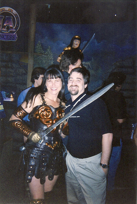 CJ with Xena portrayer at E3.