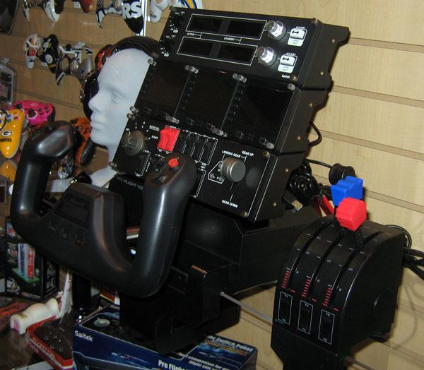 The Saitek FS controls and panels