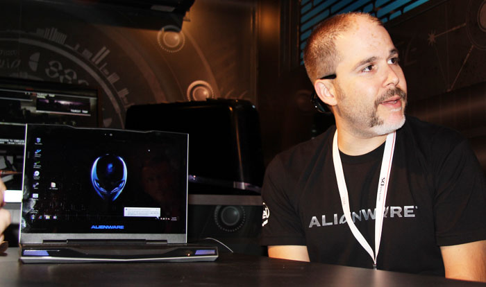 Alienware's Brian Dezayas showed SimHQ their new products.