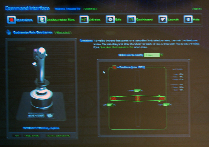 The Thrustmaster HOTAS Warthog T.A.R.G.E.T. software