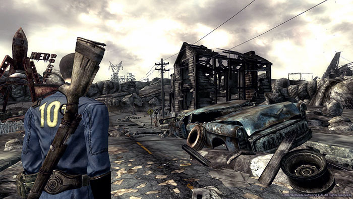 The post-nuclear apocalypse Fallout 3.
