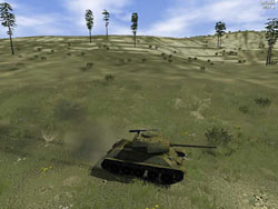 T-34 On March Look At Grass