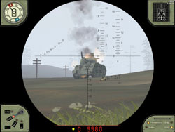 Pavel's View of second sherman-got him.
