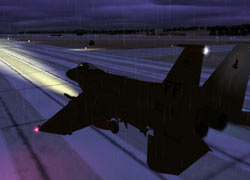 Sacha's F-15 on the runway.
