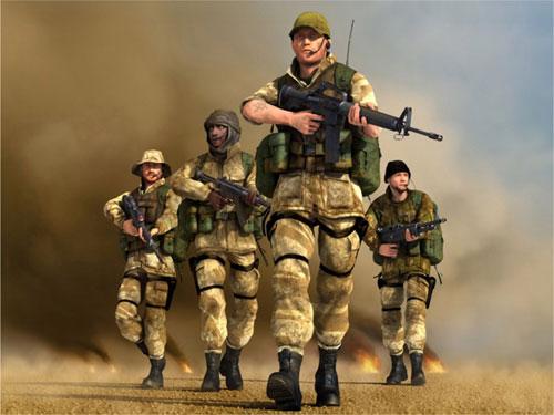 AA - 4 man fire team.