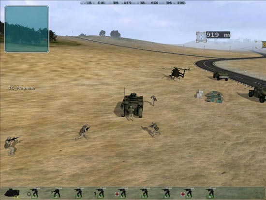 Armed Assault: My squad gets in the M113.