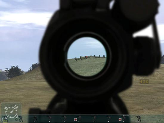 Armed Assault: I spot the first of many enemies.