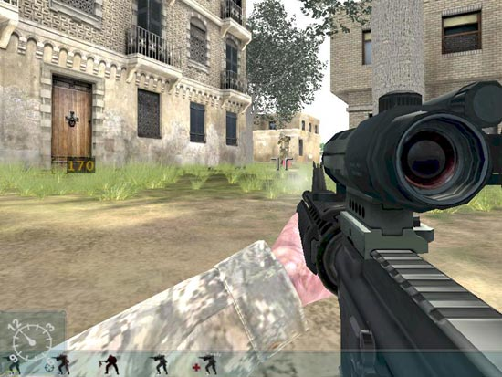 Armed Assault: Attempt to take the final machine gun nest.