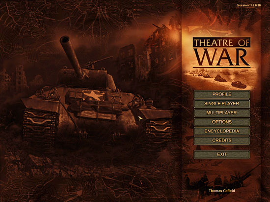 Theatre of War Main Menu