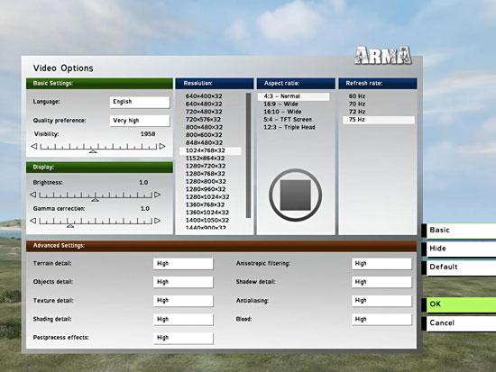 Cleaner Video Options menu.