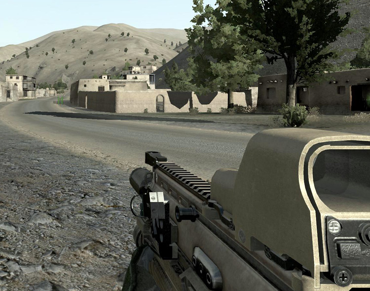 ArmA 2: Operation Arrowhead - A quiet day in town.