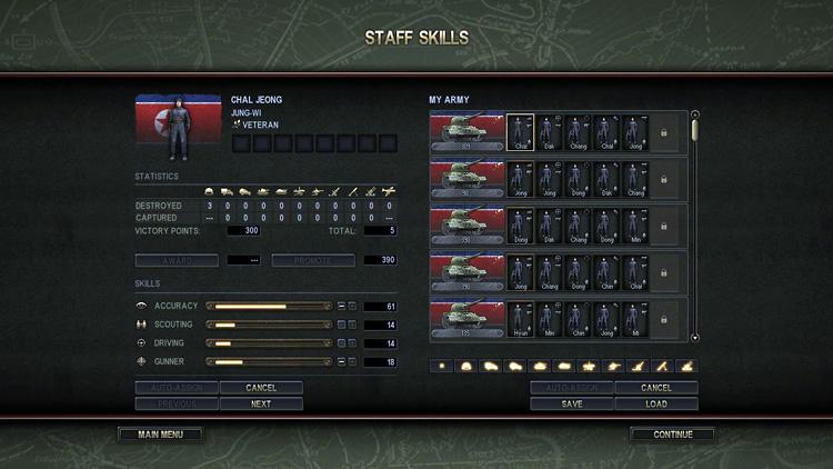 Theatre of War 3: Korea - Staff Skills