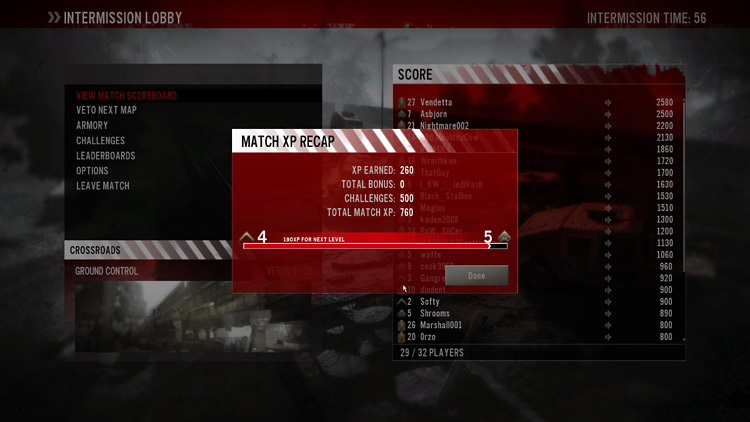 Homefront multiplayer Match Recap