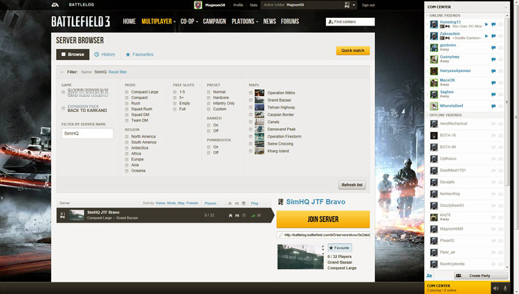 Battlefield 3 - Multiplayer BattleLog on PC