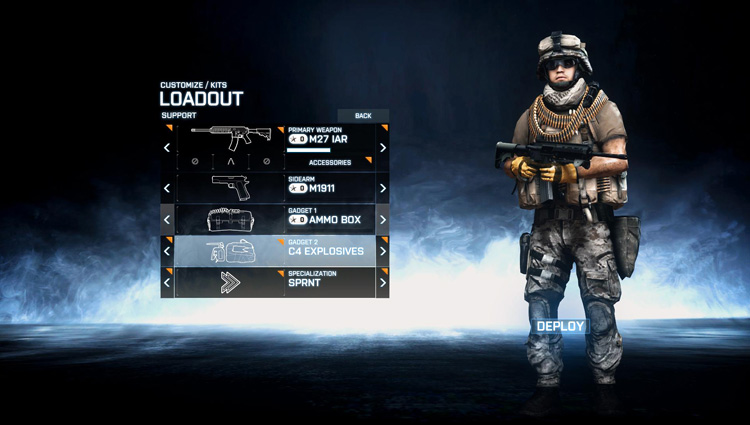 Battlefield 3 - PC Loadout for the Support Role