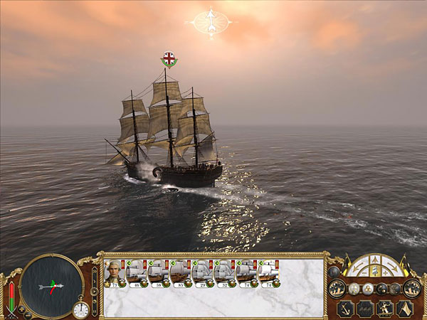 Naval-based battles from Empire: Total War