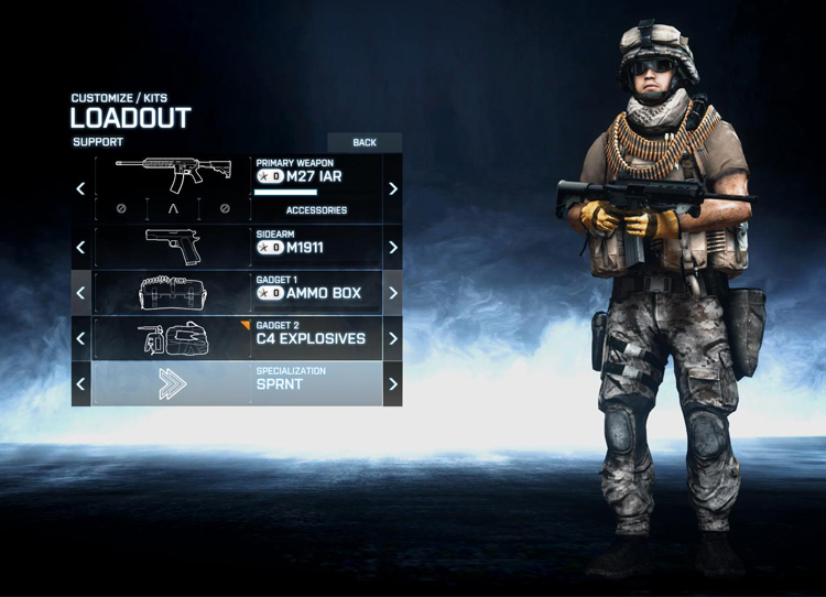 Support Role in Battlefield 3