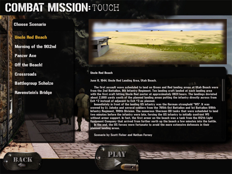 Combat Mission: Touch - Missions