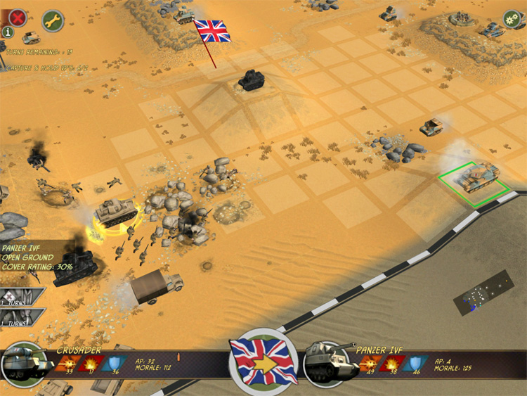Battle Academy - A desert battle