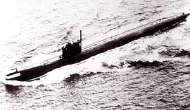 Figure 3 - Echo II subs launch SS-N-12 missiles.